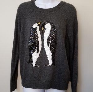 H&M Sequined PENGUIN Sweater 🐧🐧🐧